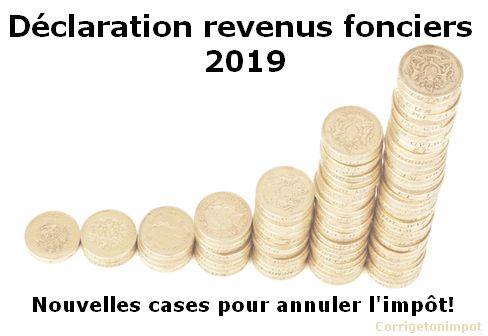 Comment remplir déclaration revenus fonciers 2019 ?